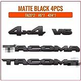Blackout Emblems Overlay Kit for 2016-2021 Toyota TAC V6 4X4 Replace PT948-35180-02 3D Raised ABS Plastic Tacoma Letter Paste