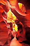 16 x 24 photograph of Red Navaho sandstone rock formation of Lower Antelope Slot Canyon, Arizona. Mancave gift.