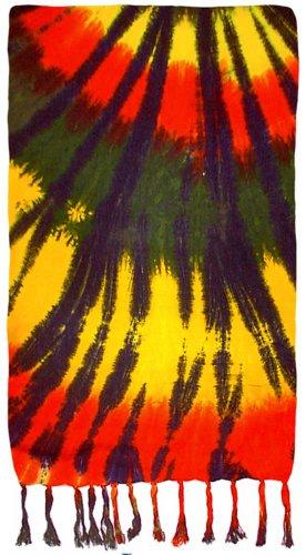 - Spiral Tie-Dye Sarong (Rasta)