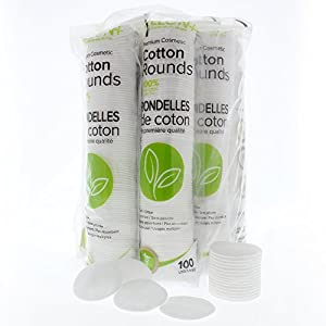 Delon Premium Facial Cleansing Cotton Rounds | Dermatologist Tested and Approved | 9x100 Count Stacks