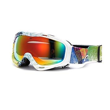 SE7VEN Gafas de esquí al aire libre,Luz polarizada Lente de doble capa Anti-