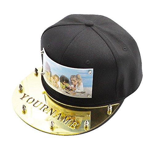 Nombre logotipo estampados con sombrero personalizado en la placa de acrílico  Gorras de béisbol ajustables 4fd1c62c61d