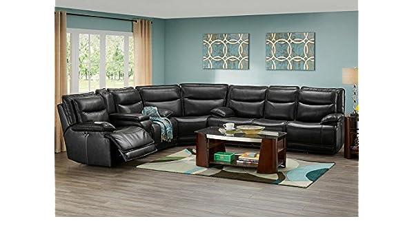Swell Amazon Com The Roomplace Maverick Black 3 Pc Sectional Uwap Interior Chair Design Uwaporg