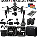 DJI Inspire 1 PRO Black Edition Bundle with Zemuse X5 4K Camera + 2 Batteries + Professional Hard Case + 64GB Extreme MicroSD Card and more...