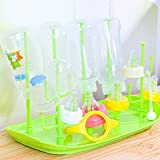 Gold Happy Baby Bottle Drying Rack Bottles Baby Bottle Cleaning Dryer Drainer Storage Rack Glass Countertop Drying Rack