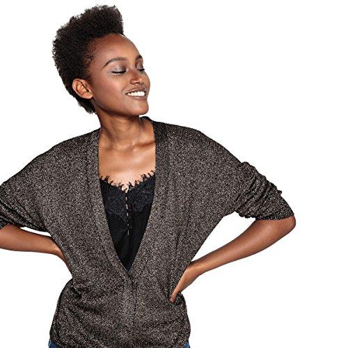 - La Redoute Collections Womens Metallic Cardigan Black Size L