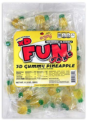 Enjoy Hawaii Gummy Pineapple Flavored Candy