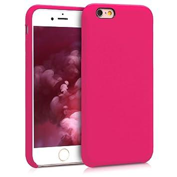 kwmobile Funda para Apple iPhone 6 / 6S - Carcasa de [TPU] para teléfono móvil - Cover [Trasero] en [Rosa neón]