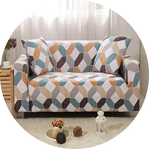 (be-my-guest Elastic Stretch Sofa Slipcovers L sectional Sofa Cover Floral Cartoon Couch Chair Case All-Inclusive,20183557,M)