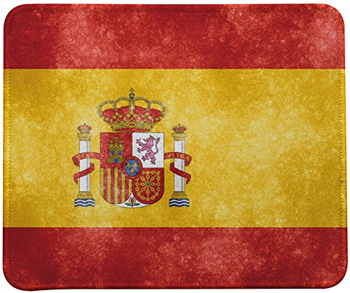 Retro Spanish Flag Mouse Pad,Spanish Flag Mouse Pad By VIVIPOW(TM)