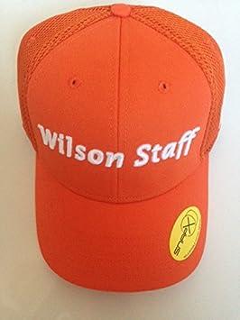 WILSON 2016 Staff Malla Gorra de Golf. Naranja.: Amazon.es ...