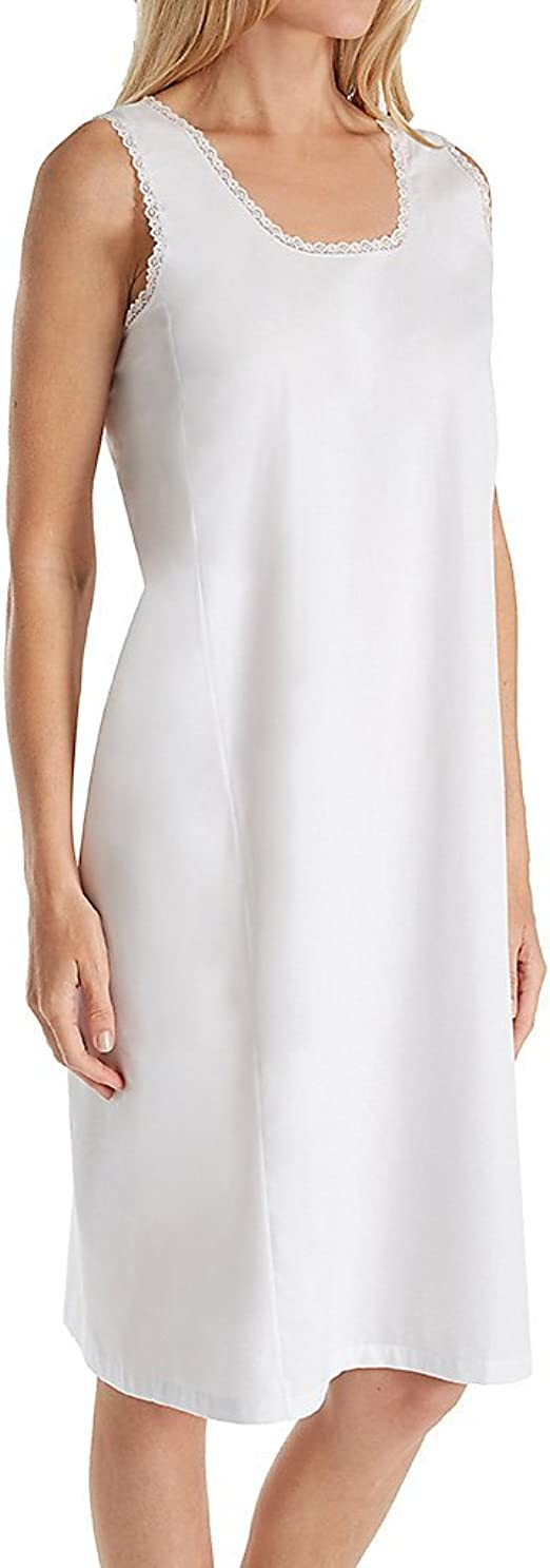 Trufit Sleeveless Comfy Cotton Cami Top Smooth Non Cling Nylon Bottom Full Slip Lines Itchy// Transparent Dresses