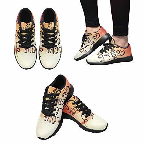Chaussures De Course De Trailprint Womensprint Jogging Sports Légers Marchant Athlétisme Sneakers Citation Typographique Inspirante - Vous Aimer À La Lune Et Retour Multi 1