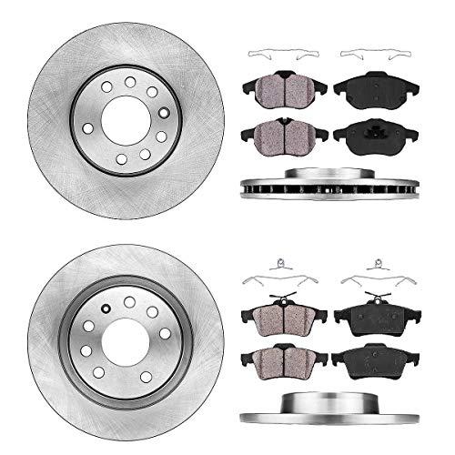 [2.0T / Linear / Turbo4] FRONT 285 mm + REAR 277.8 mm Premium OE 5 Lug [4] Rotors + [8] Ceramic Brake Pads + Clips
