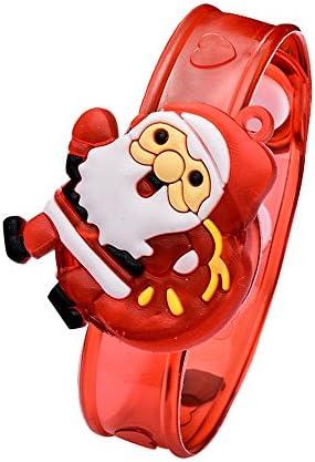 [해외]LED Toys for Kids Boys Girls Christmas Santa Claus Light Flash Toys Wrist Hand Take Dance Party Dinner Party Toy Children`s Train Toys Gift (A) / LED Toys for Kids Boys Girls Christmas Santa Claus Light Flash Toys Wrist Hand Take D...