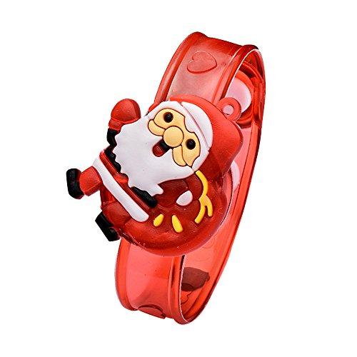 foreverH Random Weihnachten LED Leuchtarmband Armband Leuchtend Armreif Leuchtband für Geburtstag Party Kinder Kindergeburtstag Mitbringsel Mitgebsel (Random)