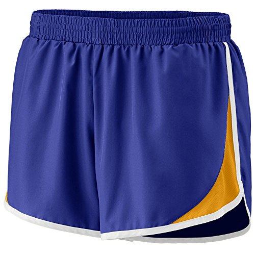 Augusta Sportswear Girls' ADRENALINE SHORT L Purple/Gold/White by Augusta Sportswear