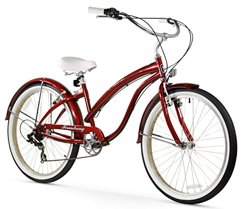 - Firmstrong Bella Fashionista 7-Speed Beach Cruiser Bicycle, 26-Inch, Burgundy