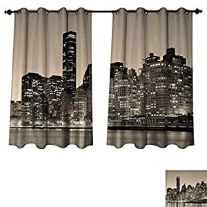Amazon Com Anzhouqux New York Blackout Thermal Curtain