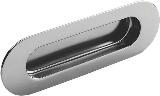 Eurospec Oval tirador para puerta corredera mango 120 mm brillante ...