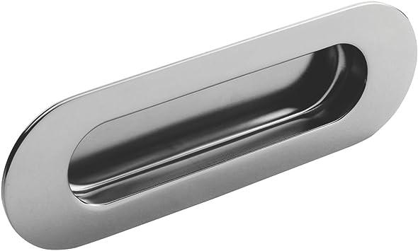 Eurospec Oval tirador para puerta corredera mango 120 mm brillante acero inoxidable: Amazon.es: Bricolaje y herramientas