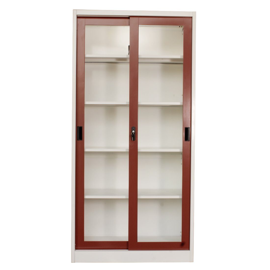 Woodness Close Cameron Book Shelf (Glossy Finish, Maroon)