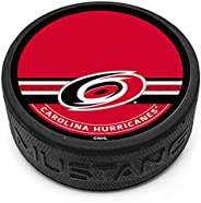 Mustang Product Carolina Hurricanes 3D Textured Autograph Collectors Hockey Puck