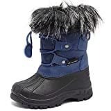 CIOR Boy & Girls Snow Boots Winter Outdoor Waterproof Fur Lined Shoes (Toddler/Little Kid/Big Kid)