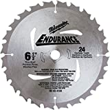 Milwaukee 48-40-4108 6-1/2-Inch 24 Tooth ATB General Purpose Saw Blade with 5/8-Inch Arbor for Blade Left Saws