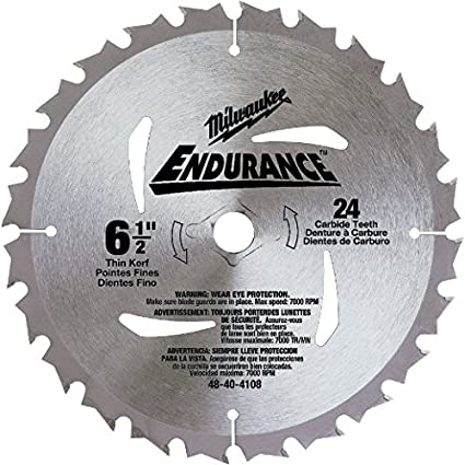 Milwaukee 48 40 4108 6 12 inch 24 tooth atb general purpose saw milwaukee 48 40 4108 6 12 inch 24 tooth atb greentooth Images