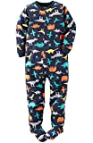 "Carter's Big Boys ""Colorful Dinos"" Fleece Footed Blanket Sleeper Pajama 6 Kids Navy"