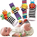 Toys : Foot Finders & Wrist Rattles for Infants Developmental Texture Toys for Babies & Infant Toy Socks & Baby Wrist Rattle - Newborn Toys for Baby Girls & Boys. Baby Boy Girl Toys 0-3 3-6 & 6 to 12 Months