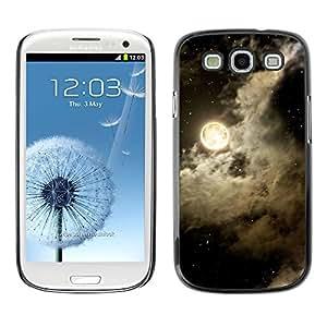 X-ray Impreso colorido protector duro espalda Funda piel de Shell para SAMSUNG Galaxy S3 III / i9300 / i747 - Sky Clouds Night Stars Black White