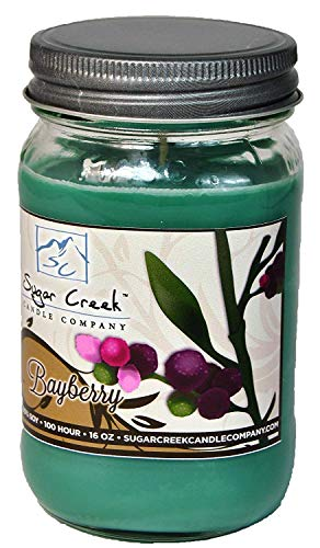 Sugar Creek Candles | Bayberry Soy Scented Candle - Christmas Candles Collection | 100% Natural - Non Toxic | 16 oz Jar