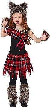 Horror-Shop Disfraz De Niña Lobo Escocesa S: Amazon.es ...