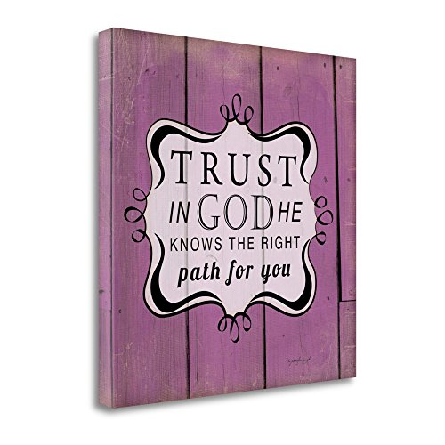 ''Trust In God'' By Jennifer Pugh, Fine Art Giclee Print on Gallery Wrap Canvas, Ready to Hang by Tangletown Fine Art