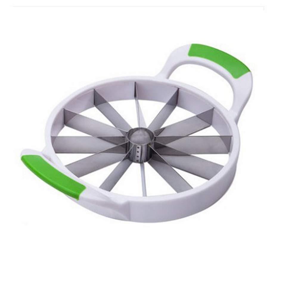 ZANFUTENOTA Apple Slicer and Corer - Razor Sharp, Stainless Steel Blade - Ergonomic, Buffer Handle - 32cm Large Slicer Rated Kitchen Gadget (Green) by ZANFUTENOTA