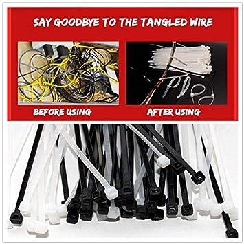 Kentop Serre-C/âbles Electrique Cable Attache enveloppe Nylon Fixation Attache de Cable Cable Ties Serre c/âbles 100PCS Blanc