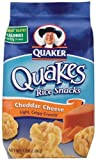 Quaker Popped Cheddar Cheese Rice Snacks 3.03 Oz (Pack of 6)