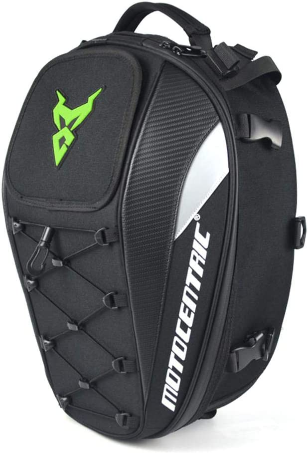 Wapern Motorcycle Tail Bag Waterproof Motorcycle Backseat Tank Bag High Capacity Helmet Storage Bag Multi-functional Durable Rider Backpack Motorcycle Bike Tank Bag