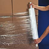 """UBOXES Brand Stretch Wrap 20"""" Roll with Handle 1000' 80 Gauge"""