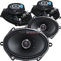 Planet Audio SC57 Sphere 2-Way 5 x 7 250 Watt Full Range Car Speaker (2 pairs)