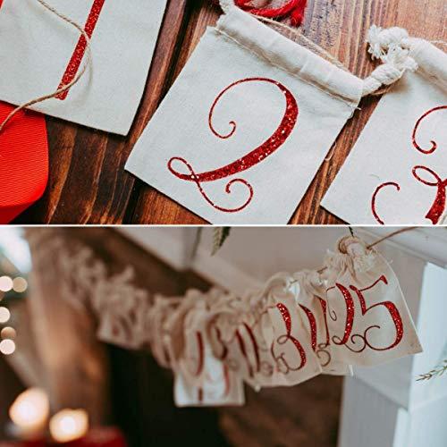 Christmas Advent Reusable Calendar Bags Fun Holiday Activity Idea for Kids