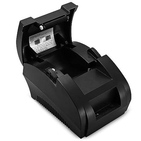 QWERTOUY POS Mini Impresora térmica de 58 mm USB POS ...