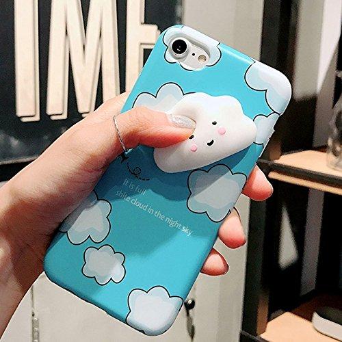 Mobiltelefonhülle - Für iPhone 6 & 6s Lovely Cloud Pattern Squeeze Relief Squishy Dropproof Schutzmaßnahmen zurück Fall Fall