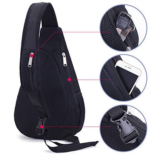 Sling Backpack for Men Sling Bag Crossbody Backpack Shoulder Casual Daypack