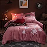 Nordic thickening duvet cover Flannel Delete juhu velvet quilt cover With woolen Keep warm Fleece quilt cover Quilt sets-J 200x230cm(79x91inch)