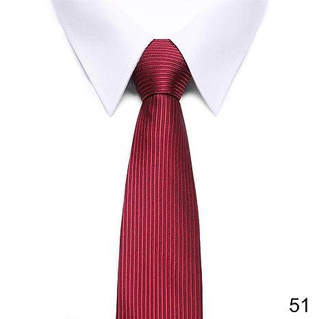 ZHENZHIA Corbata de Rayas Rojas para Hombre, 8 cm de Ancho, Grupo ...