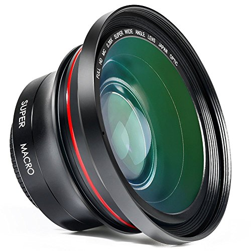Wide Angle Lens, Besteker 72MM 0.39x Professional HD Camera Camcorder Wide Angle Lens with Macro Portion Camera Lenses Kit by Besteker
