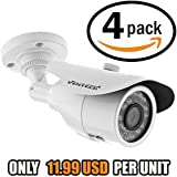 12v security camera for outside home by Ventech (4 pack) with 36 ir led day-night vision 95ft ir cut cmos 800TVL 960h cctv video type bullet indoor outdoor weatherproof ip66 more than 700tvl 600tvl